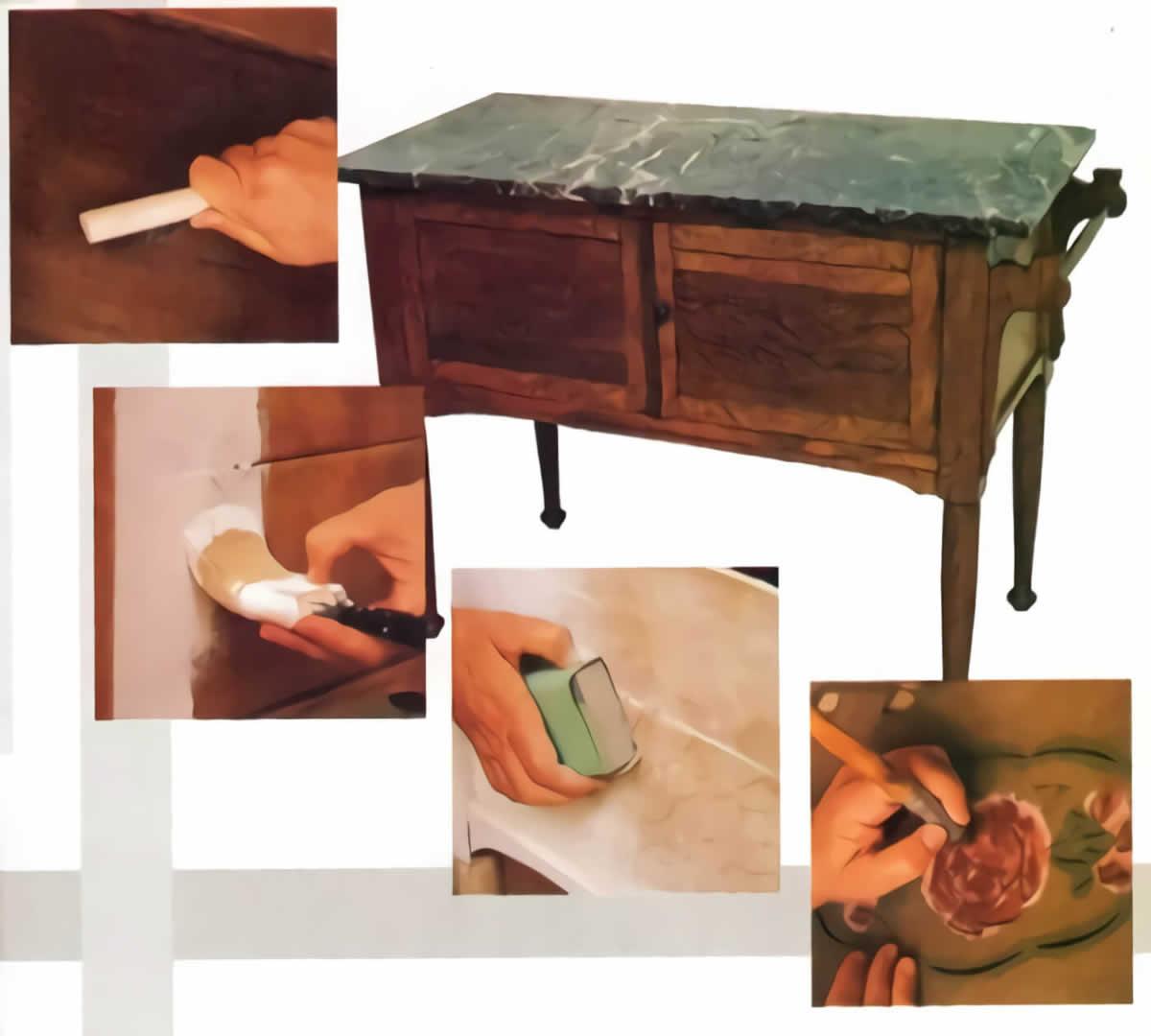 3 Técnicas para restaurar muebles Esmihobby
