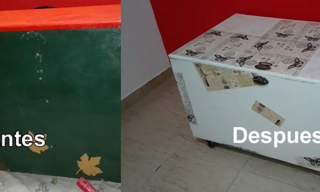 Como hacer decoupage en un baúl de madera muy fácil