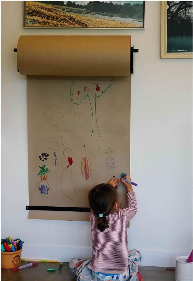 5 ideas para paredes que se puedan dibujar decoideas esmihobby for Papel para tapizar paredes